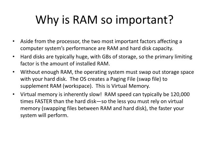 Why is RAM so important?