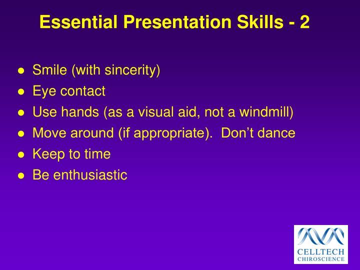 Essential Presentation Skills - 2