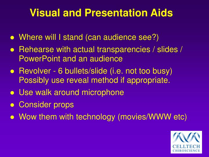 Visual and Presentation Aids
