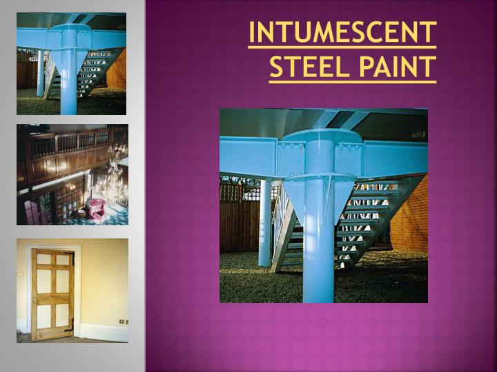 Intumescent steel paint
