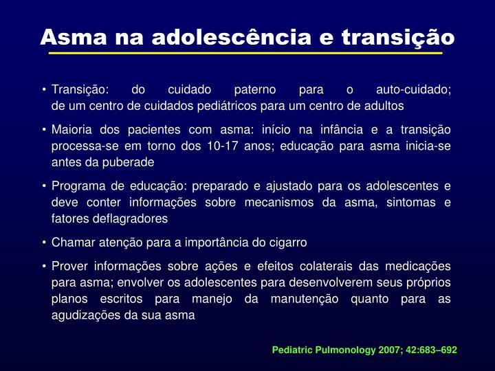 Asma na adolescência e transição