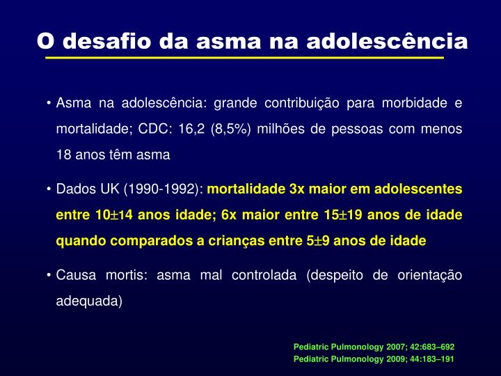 O desafio da asma na adolescência