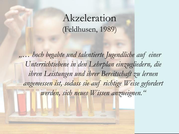 Akzeleration