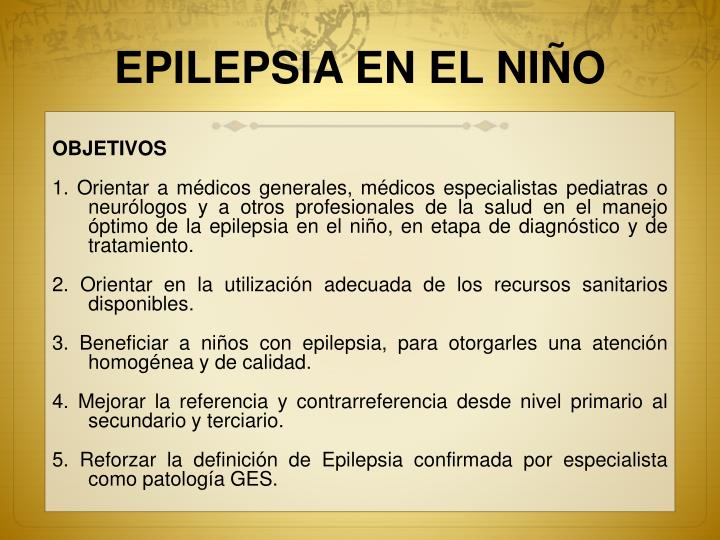 EPILEPSIA EN EL NIÑO