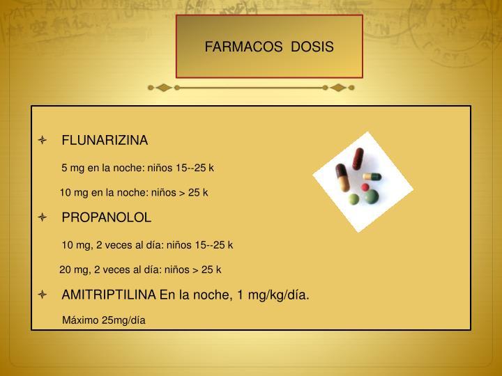FARMACOS  DOSIS