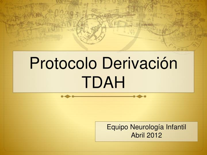 Protocolo Derivación