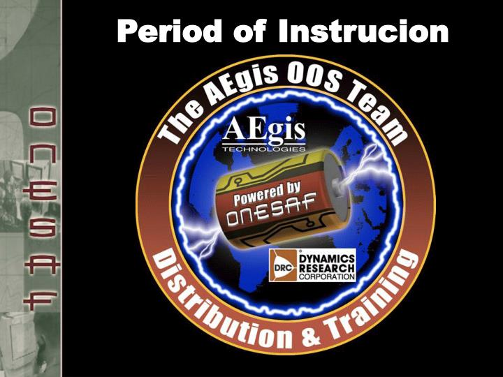 Period of Instrucion
