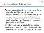 la consulta colaborativa