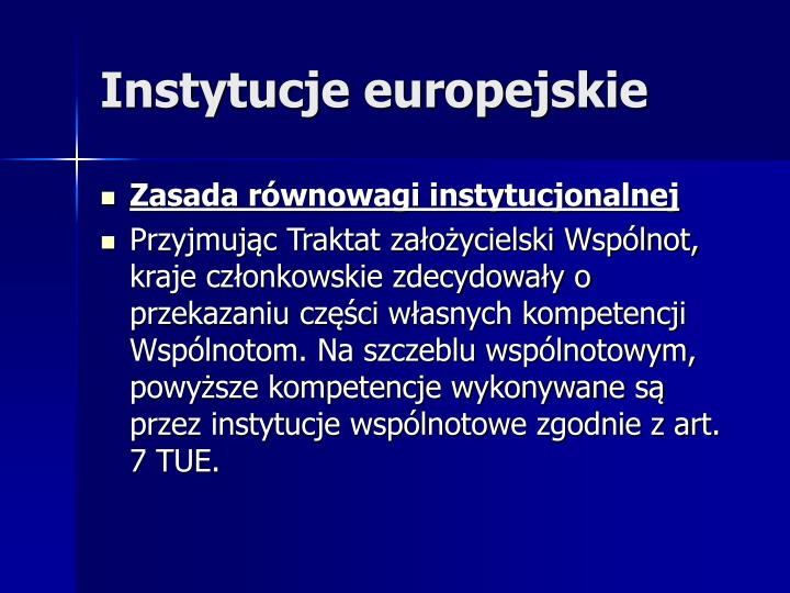 Instytucje europejskie