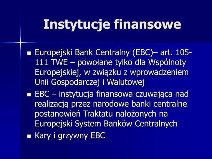 Instytucje finansowe
