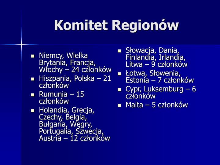 Niemcy, Wielka Brytania, Francja, Włochy – 24 członków