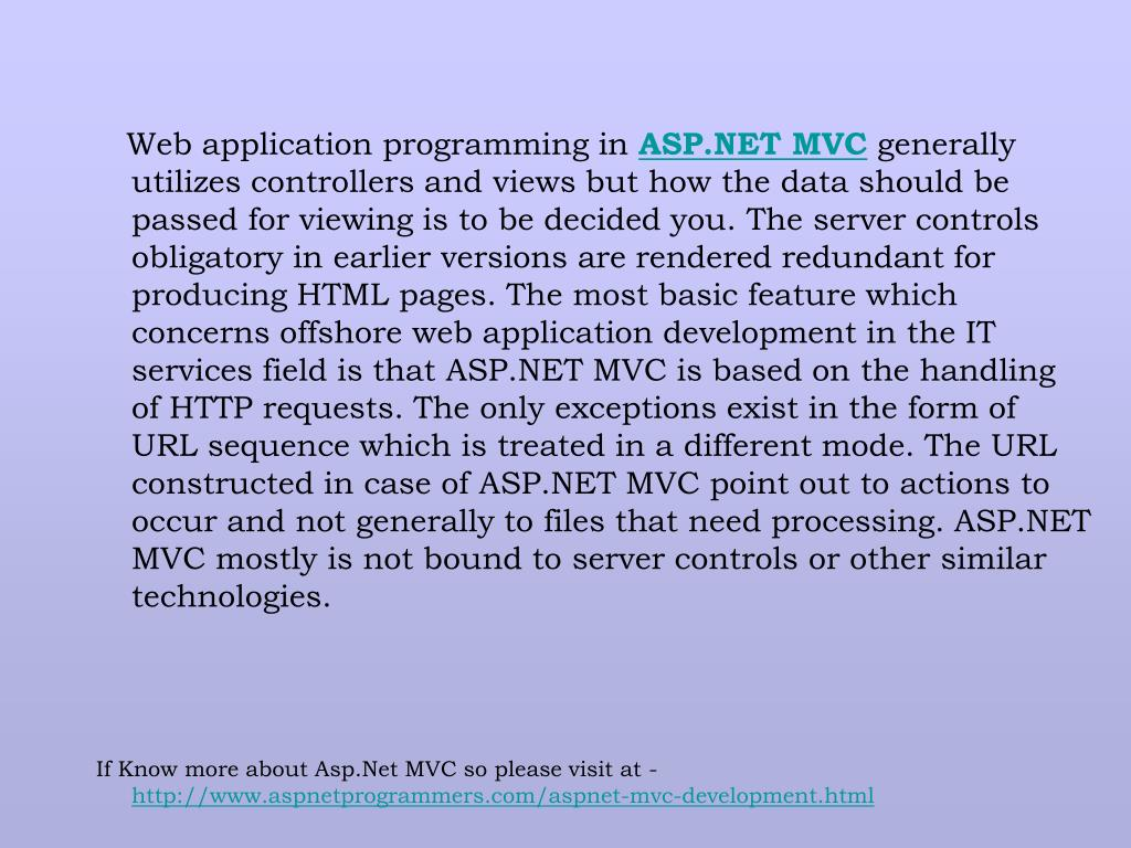 Web application programming in