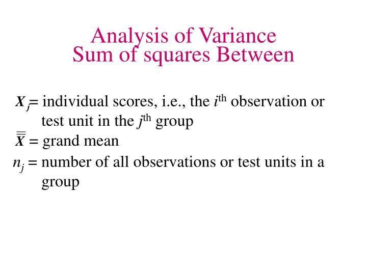 = individual scores, i.e., the