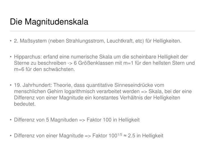 Die Magnitudenskala