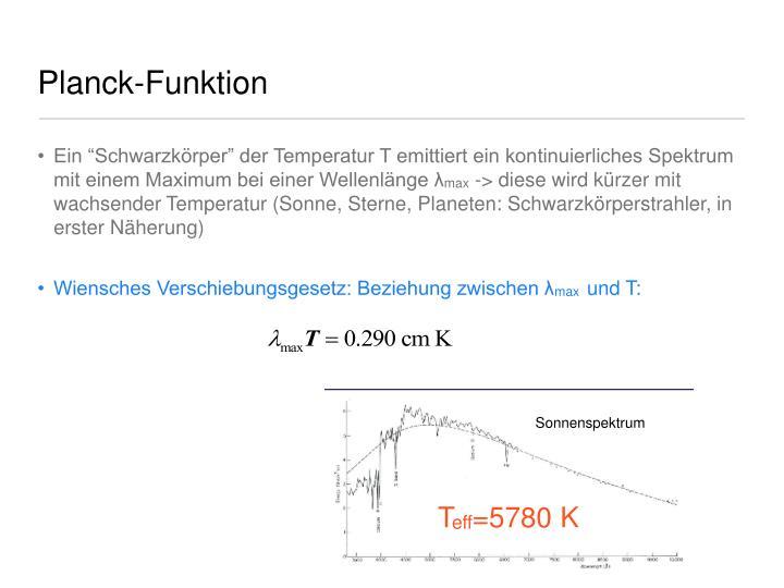 Planck-Funktion