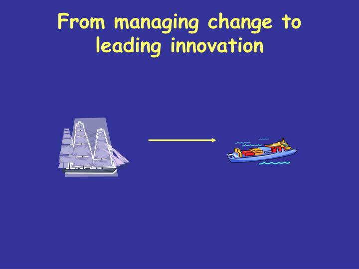 From managing change to leading innovation
