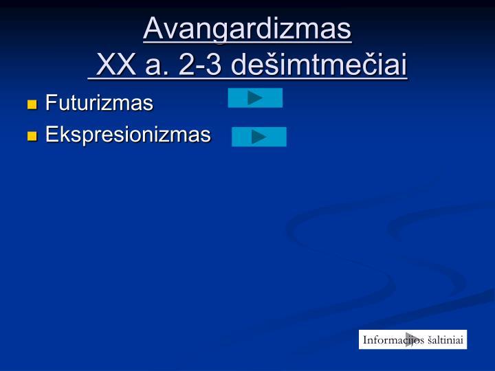 Avangardizmas