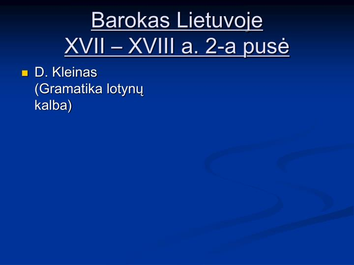 Barokas Lietuvoje