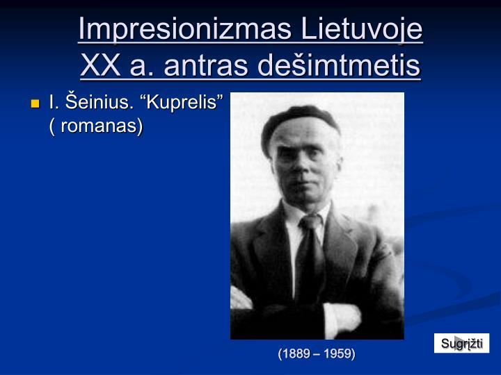 Impresionizmas Lietuvoje