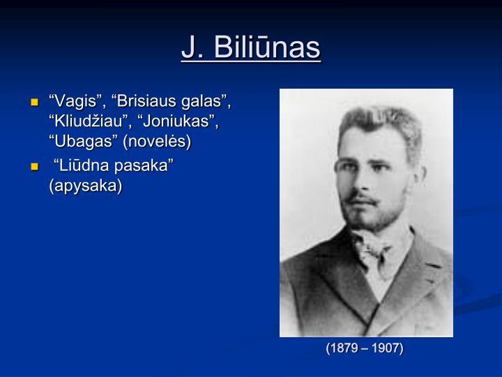J. Biliūnas