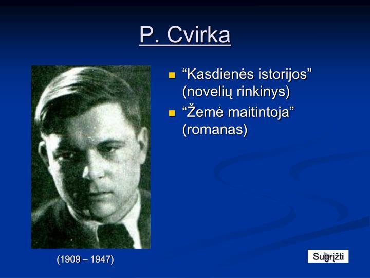 P. Cvirka