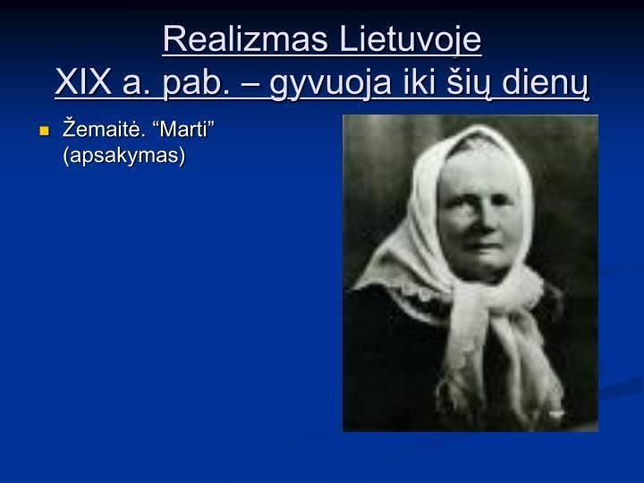 Realizmas Lietuvoje