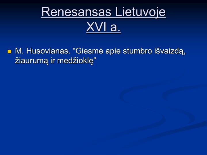Renesansas Lietuvoje