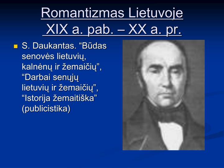 Romantizmas Lietuvoje