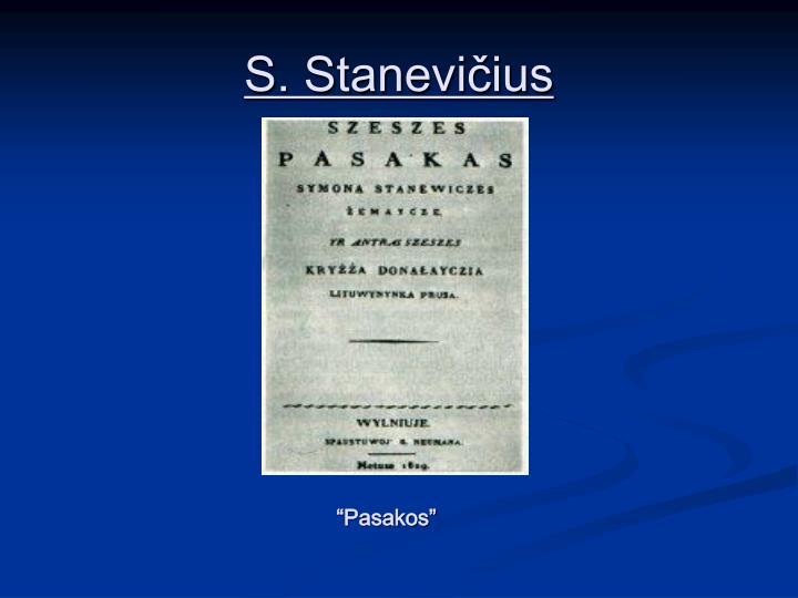 S. Stanevičius