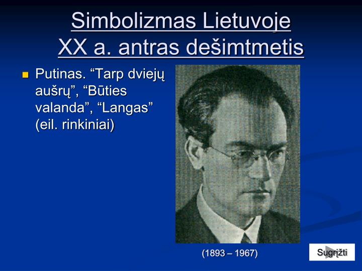 Simbolizmas Lietuvoje