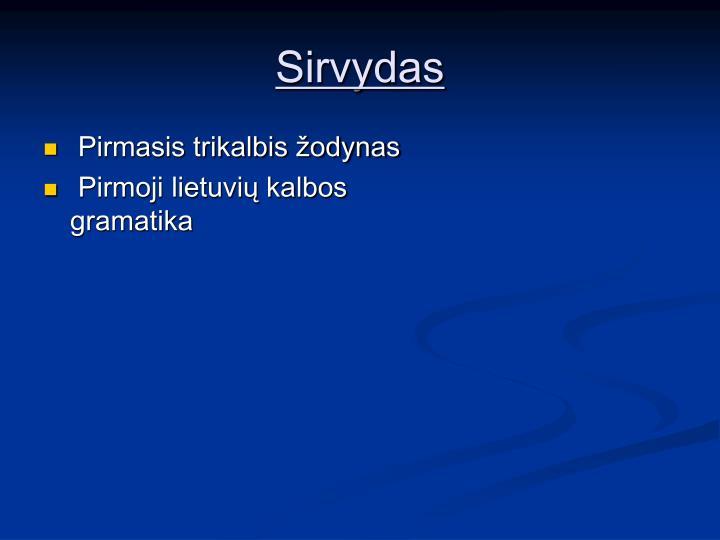 Sirvydas