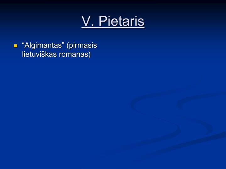 V. Pietaris