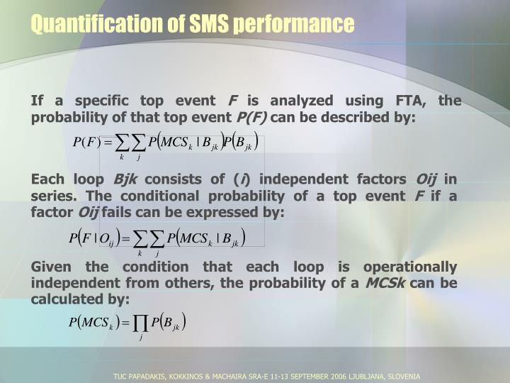 Quantification of SMS performance