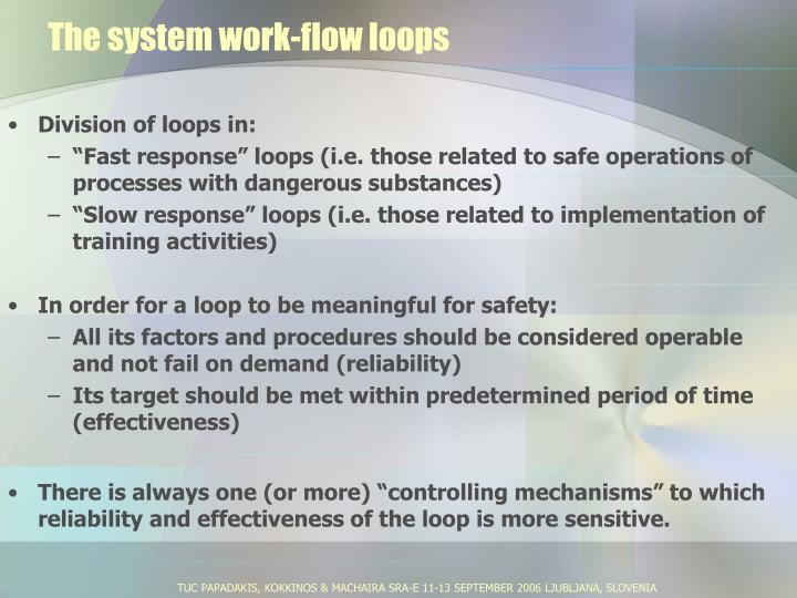 The system work-flow loops