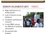 simon elementary then