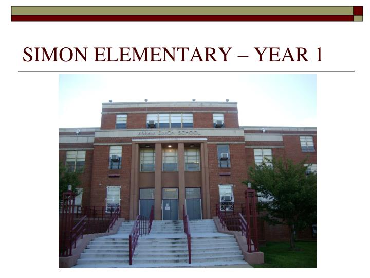 SIMON ELEMENTARY – YEAR 1