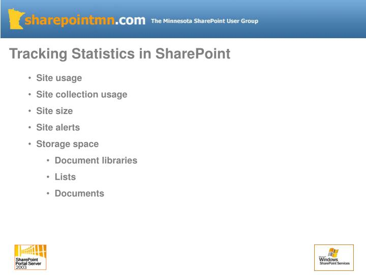 Tracking Statistics in SharePoint