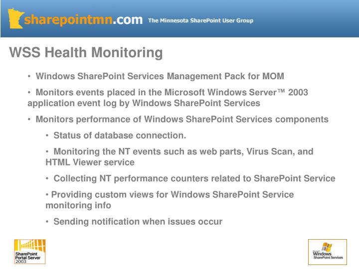 WSS Health Monitoring