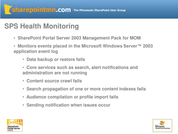 SPS Health Monitoring