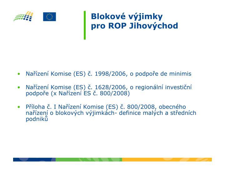 Nařízení Komise (ES) č. 1998/2006, o podpoře de minimis
