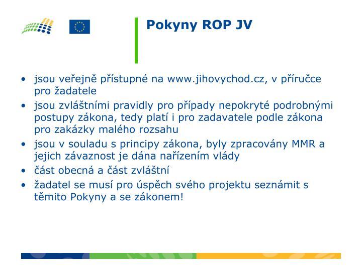 Pokyny ROP JV