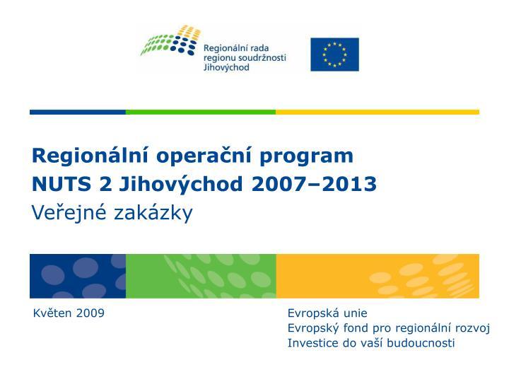 Regionální operační program