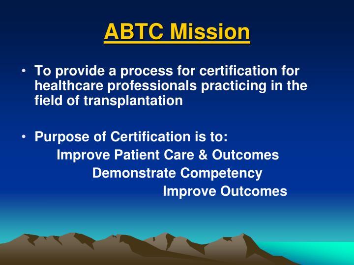 ABTC Mission