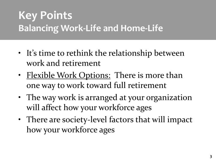 Key points balancing work life and home life