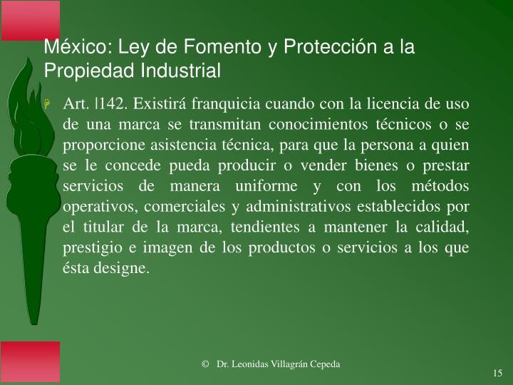 México: Ley de Fomento y Protección a la Propiedad Industrial