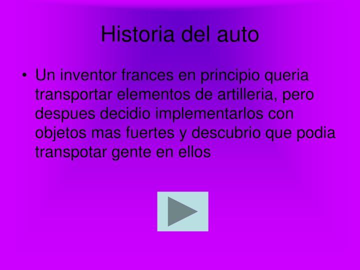 Historia del auto