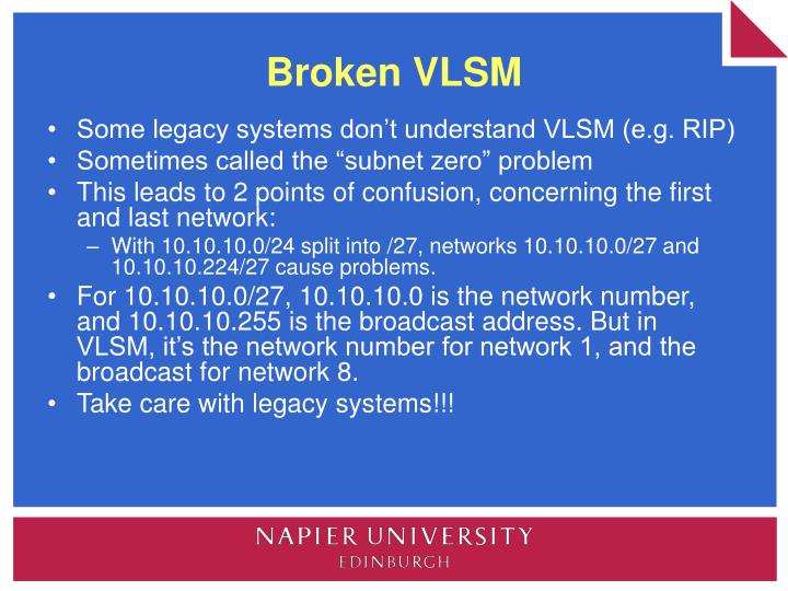 Broken VLSM
