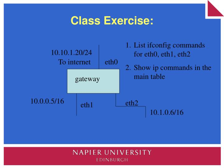 Class Exercise: