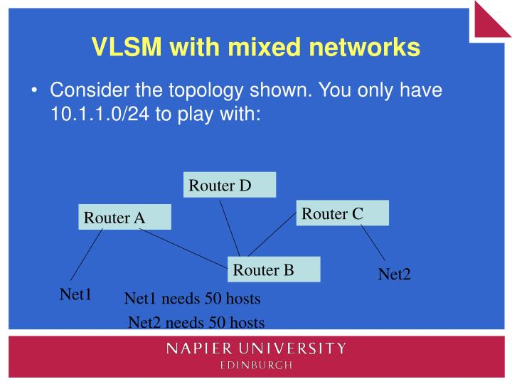 VLSM with mixed networks