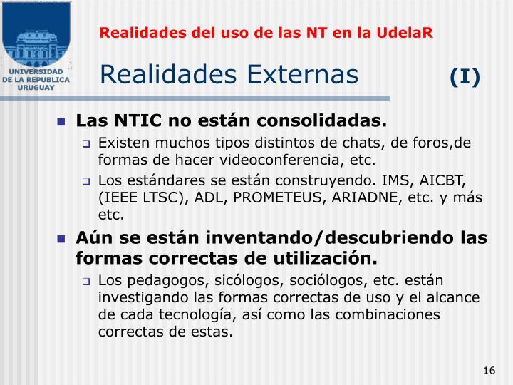 Realidades del uso de las NT en la UdelaR